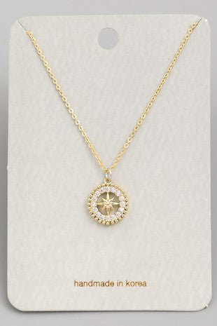 Exposure Compass Necklace