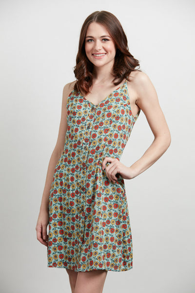 Exposure Daisy Cotton Button Dress