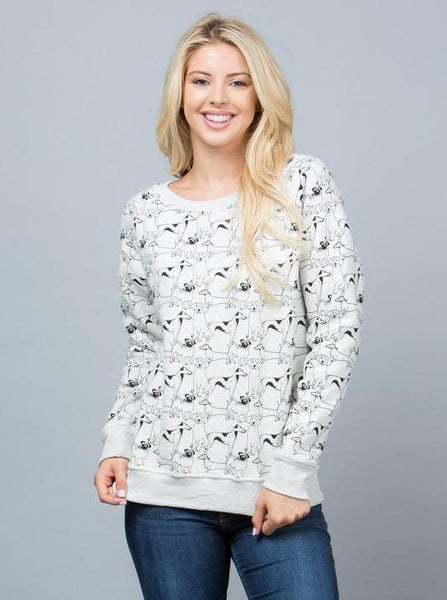 Exposure All Over Dog Cotton Sweater