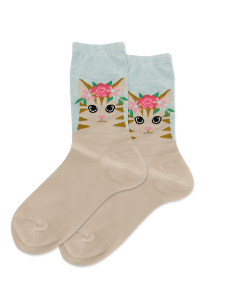 Hotsox Flower Crown Cat Socks
