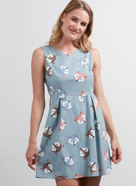 Exposure Cotton Fox Face Dress