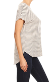 Ginger G Oversized Striped Tshirt