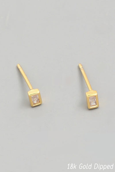 Exposure Mini Gold Rectangle Stud
