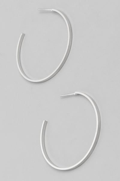 Exposure Flat Hoop Earrings