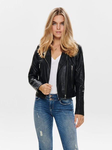 ONLY Ilde Short Faux Leather Biker Jacket