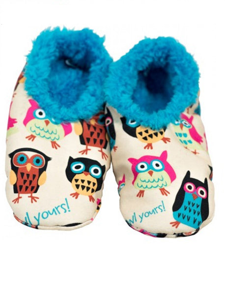 Fuzzy Feet I'm Owl Yours Slippers