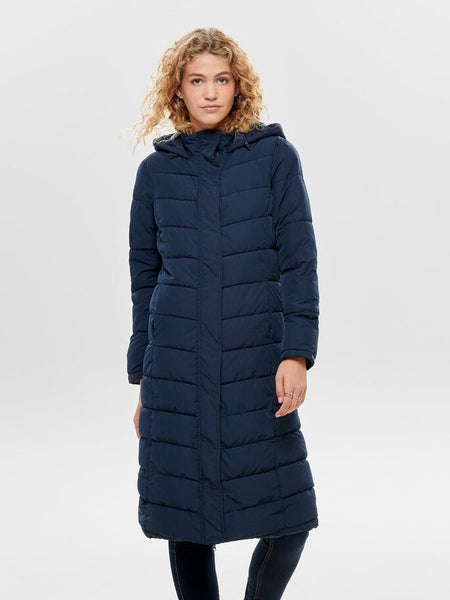 JDY Kammi Extra Long Padded Hood Jacket