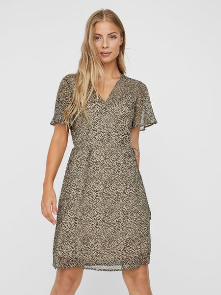 Vero Moda Kay Wrap Short Dress