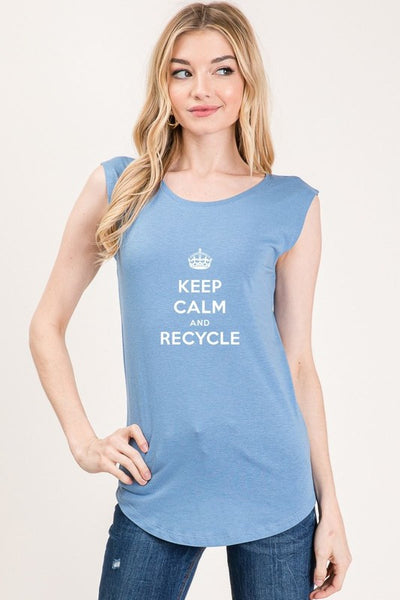 Exposure Keep Calm and Recycle Tank Top