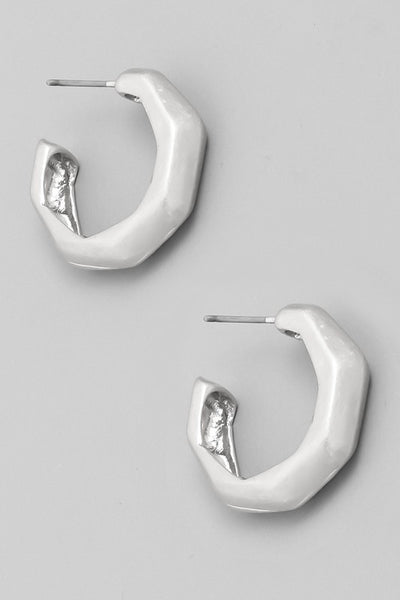 Fame Kinked Hoop Earrings