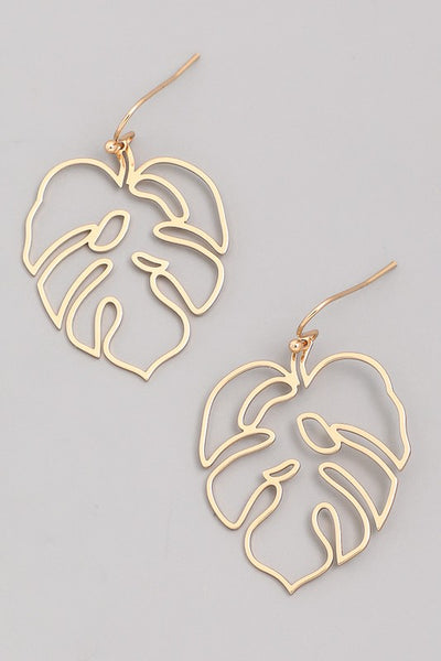 Exposure Leaf Outline Earrings