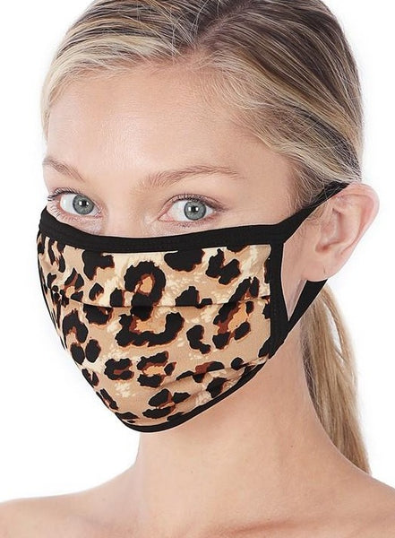 Exposure Leopard Print Cotton Lined Masks