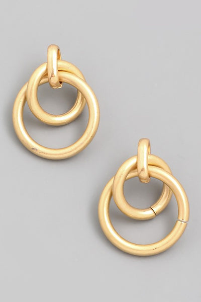 Exposure Circle Link Earrings