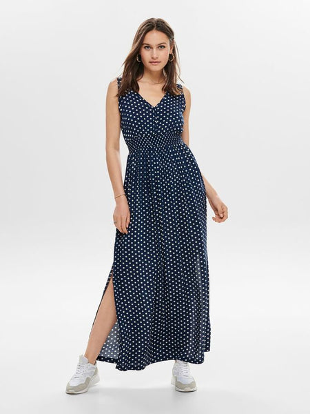 JDY Polka Dot Logan Maxi Dress