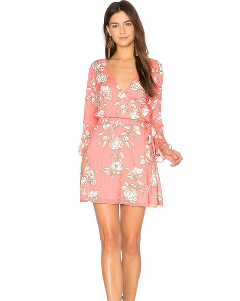 Minkpink Lovina Wrap Dress