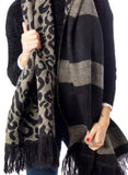 ONLY Mila Leopard Print Woven Scarf