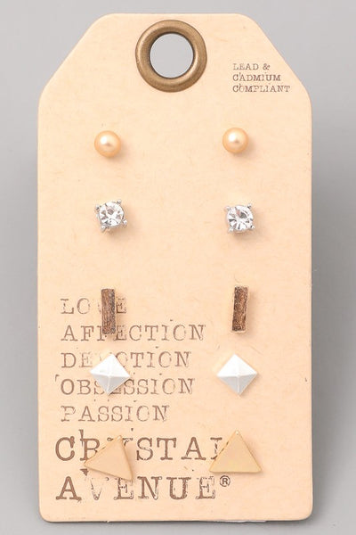 Exposure Minimal Shapes Earring Set