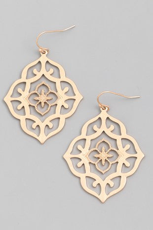 Exposure Moroccan Inspired Drop Earrings