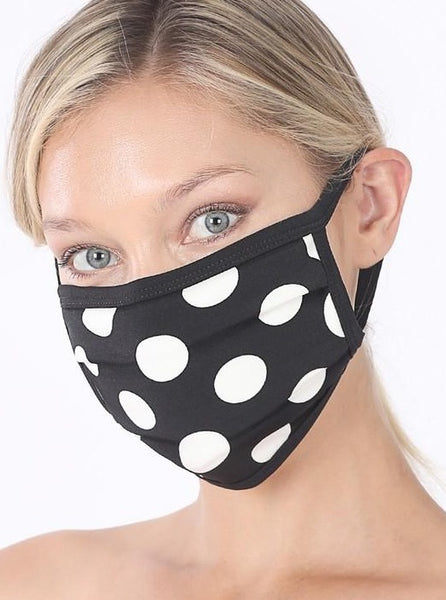 Exposure Polka Dot Cotton Lined Masks