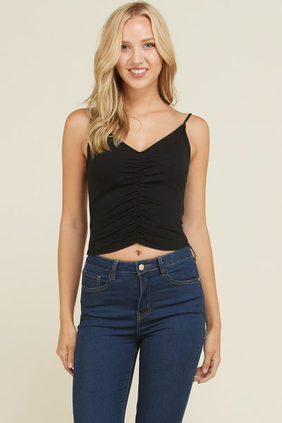 Exposure Front Ruching Cami