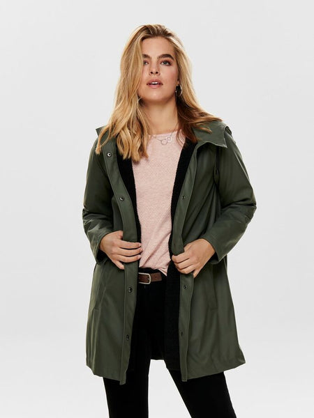 ONLY Vanessa Sherpa Lined Raincoat