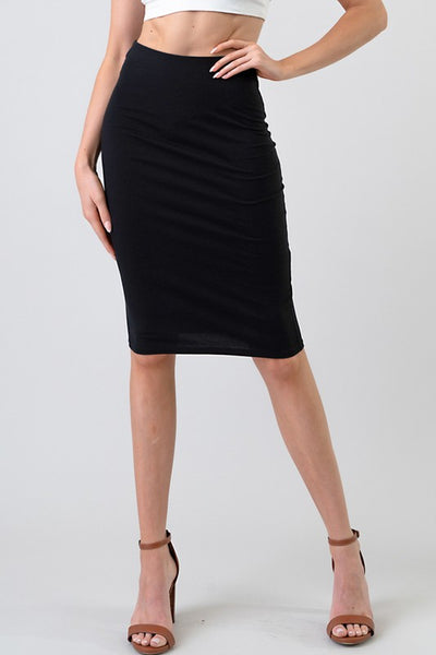 Exposure Classic Cotton Pencil Skirt