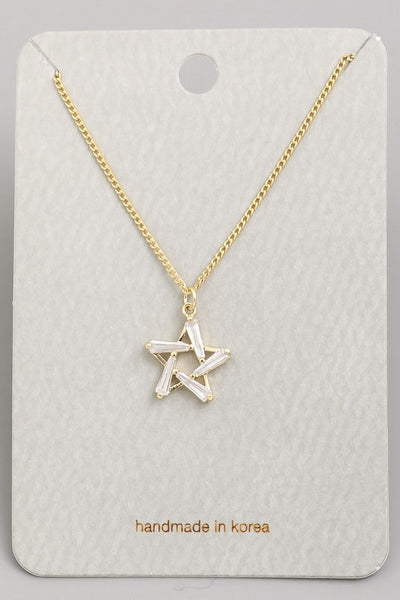 Exposure Rhinestone Star Necklace