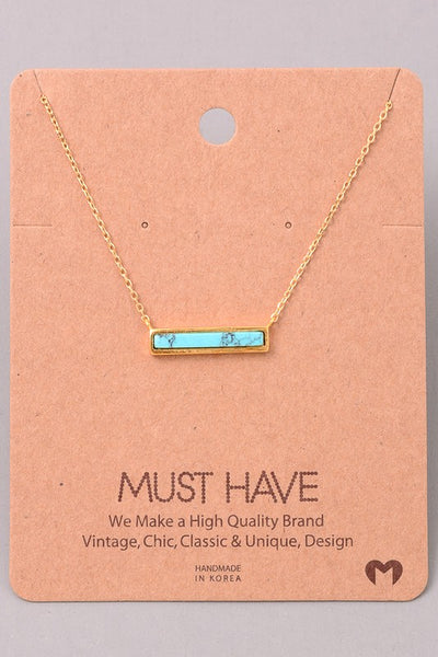 Exposure Turquoise Bar Necklace