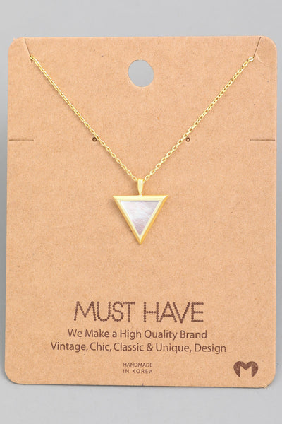 Exposure Triangle Inlay Necklace