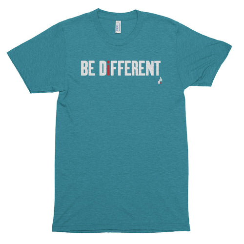 Be Different Men's Short Sleeve Soft Tri-Blend T-shirt