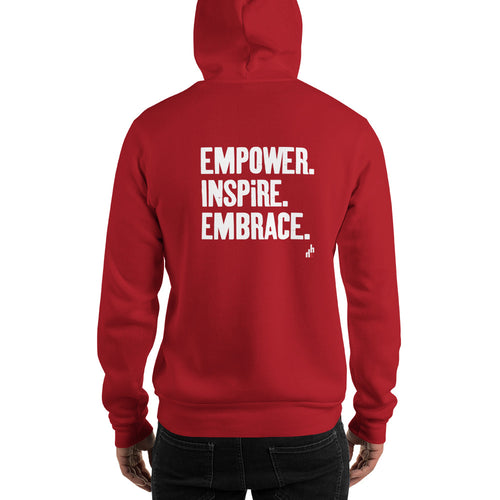 Empower. Inspire. Embrace. Unisex Hooded Sweatshirt