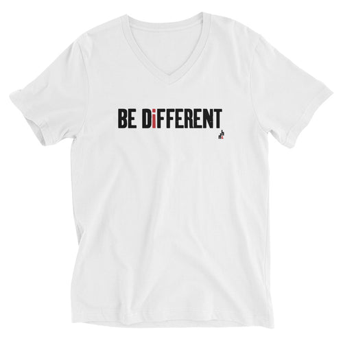 Be Different Unisex Short Sleeve V-Neck T-Shirt