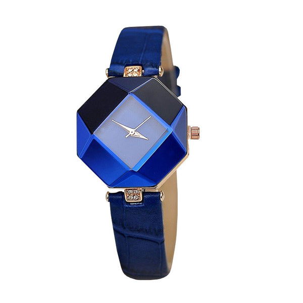 Geometric Jewel Cut Watch