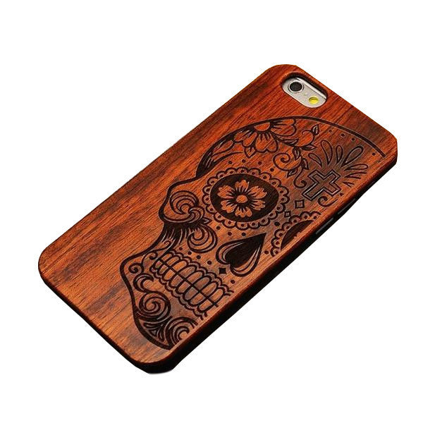 Shockproof Bamboo Wood Case