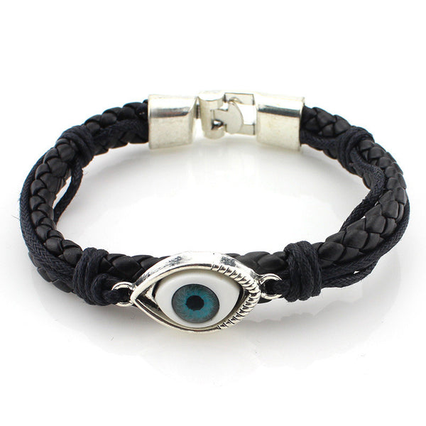 Blue Eye Leather Bracelet