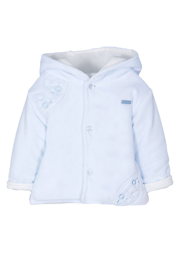 Blue Embroidered Car Jacket