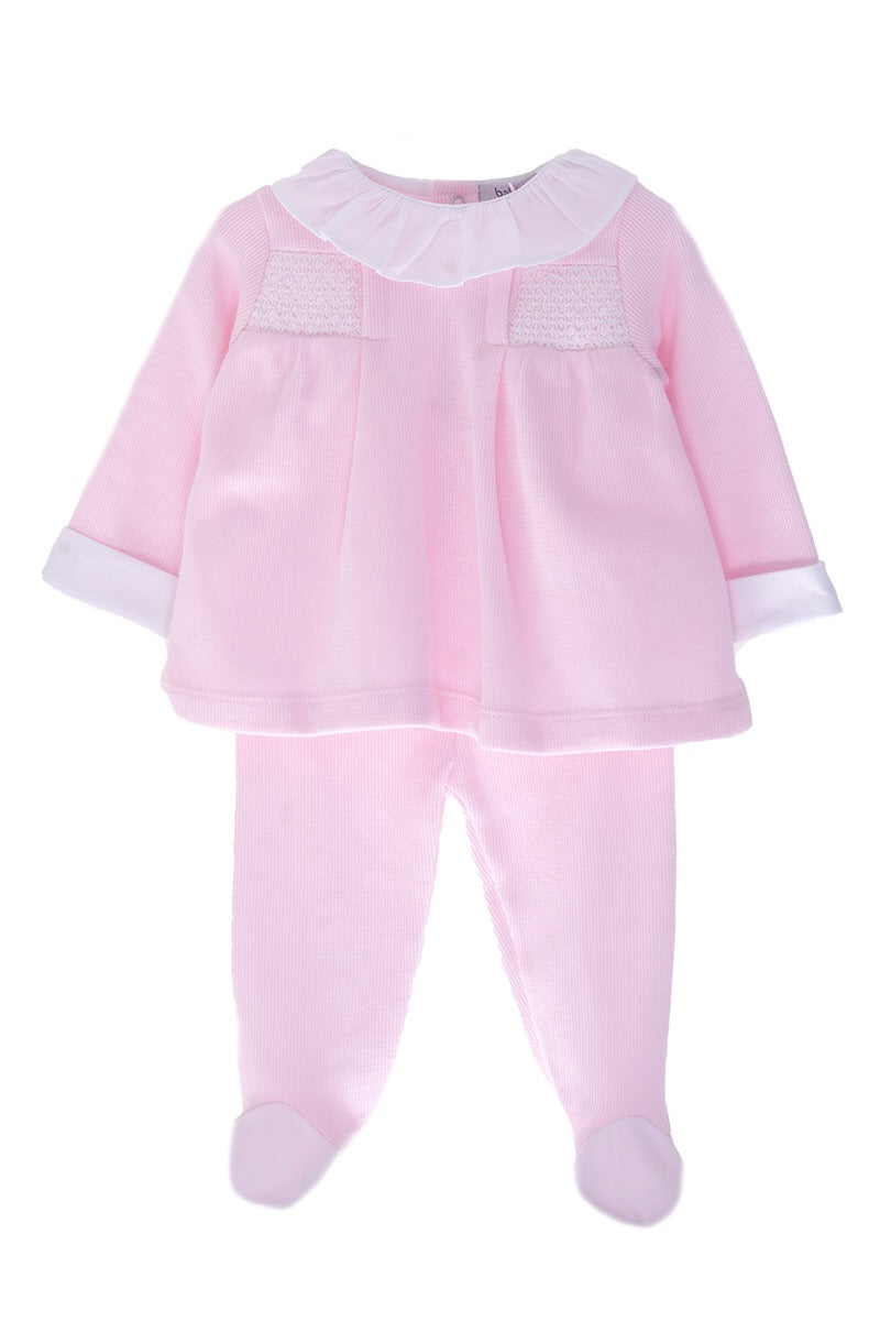 Mintini Baby Romany Spanish Style Traditonal Smocked Dungarees /& Top Outfit