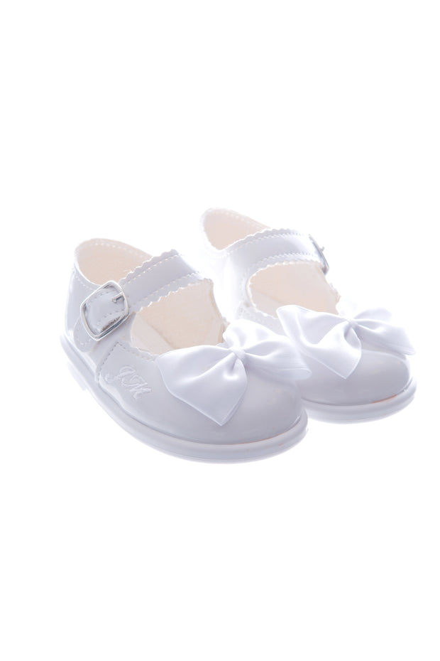 White Bow Hard Sole Shoes
