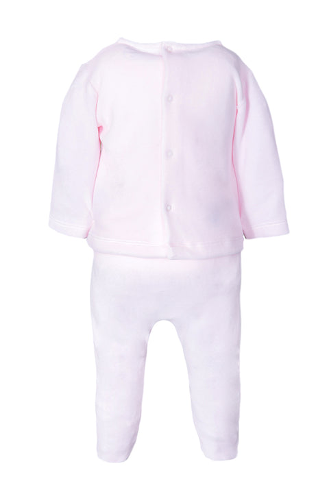 Pink Spot Bib Design Top And Pants