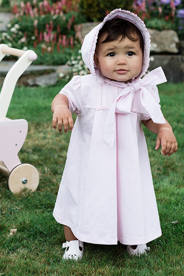 Pink Cotton Bow Dress