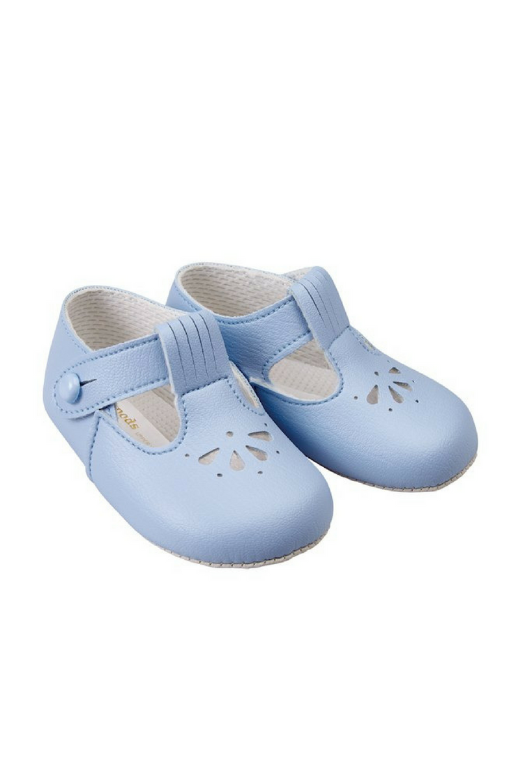 Sky Blue T-Bar Shoes
