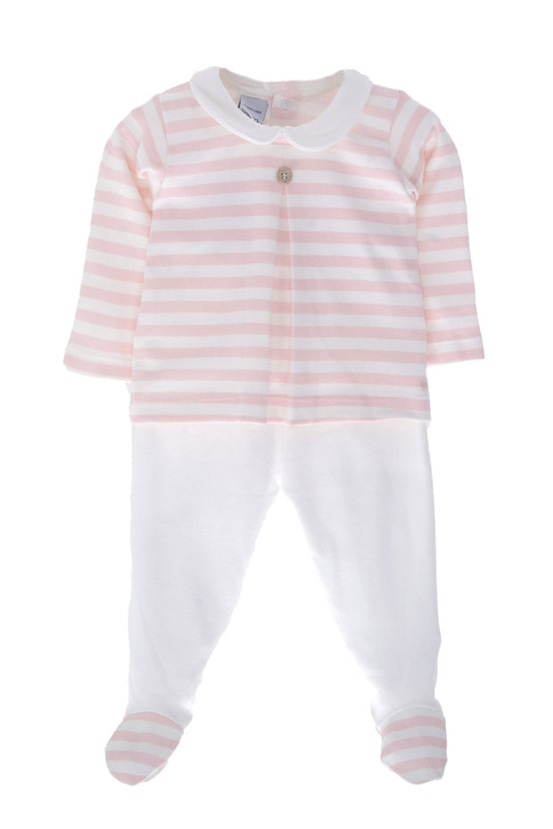 Pink And White Striped Outfit