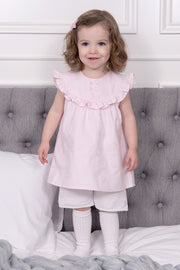 Girls Frill Romper Dress