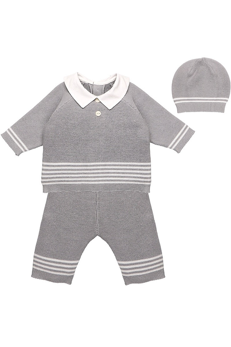 Emile Et Rose Grey Knit Outfit With Hat