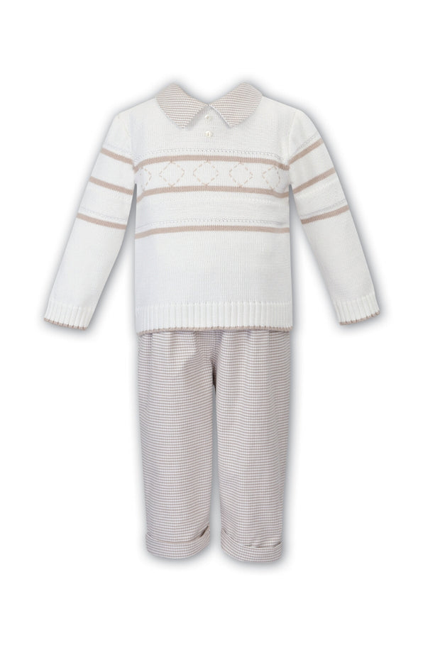 Ivory And Beige Jumper And Pants