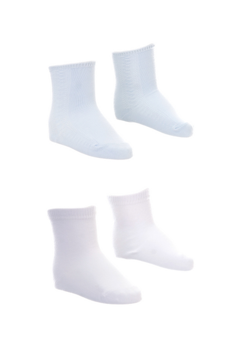 5pk Blue And White Socks