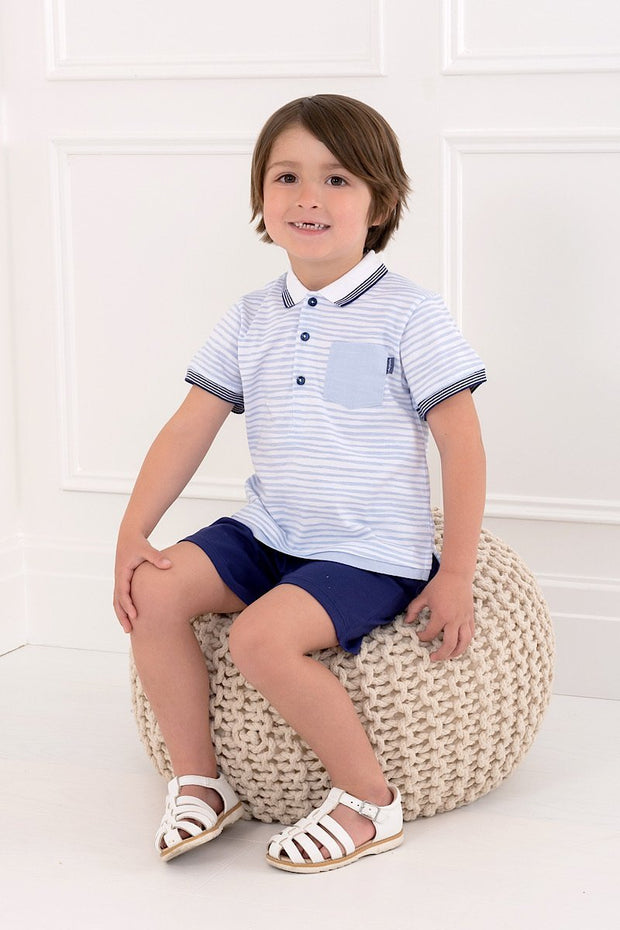 Blue And Navy Stripe Outfit - Jacob Matthews