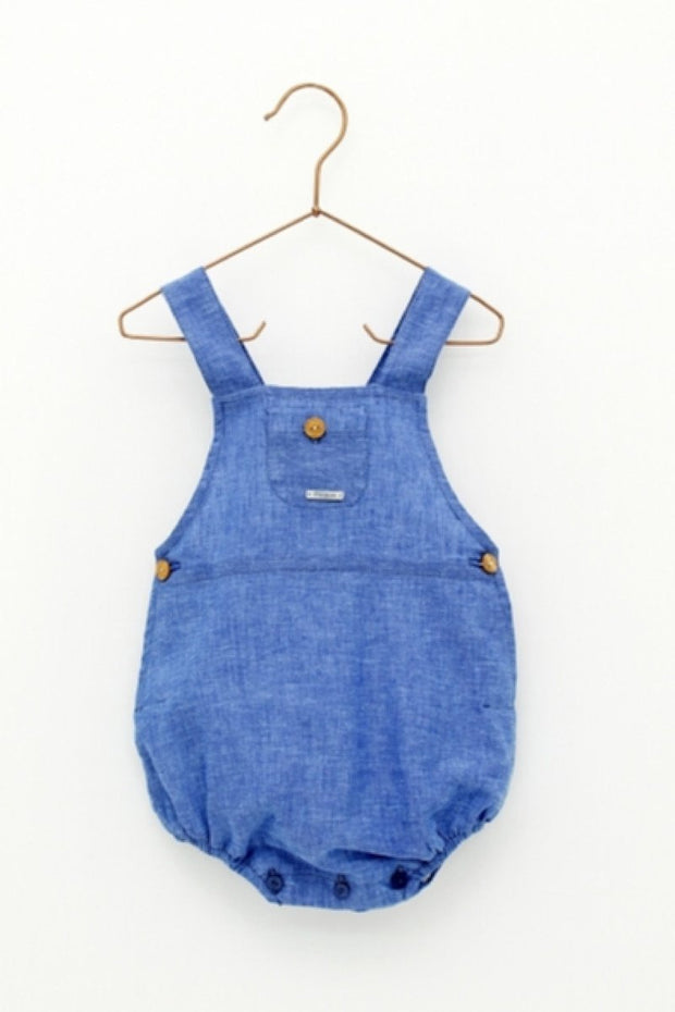 Blue Button Pocket Romper - Jacob Matthews
