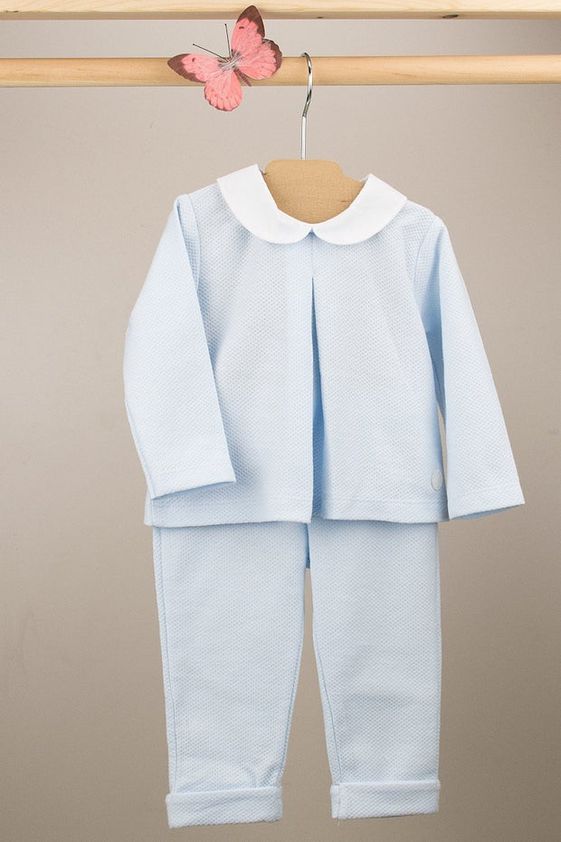 Blue Cotton Outfit - Jacob Matthews