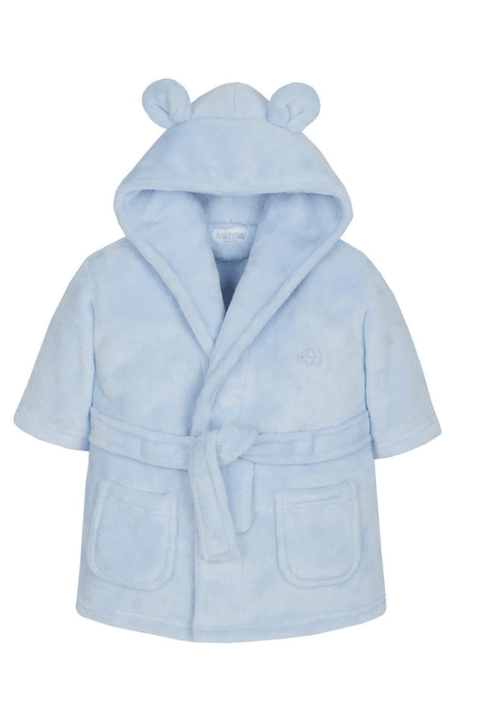 Blue Embroidered Dressing Gown - Jacob Matthews